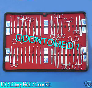 132 Pc Us Military Field Minor Surgery Surgical Veterinary Dental Instrument Kit