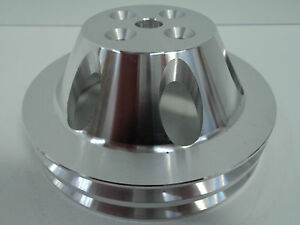Bb Chevy Aluminum Water Pump Pulley 2 Groove Swp Short Water Pump Bbc 396 454