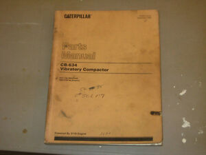 Caterpillar Manual Cb 634 Vibratory Compactor