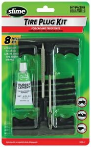 New Slime 1034 A 8 Piece Tire Repair Plug Kit Tool Sale 9971920