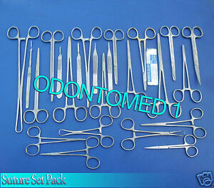 Suture Kit Suture Set suture Pack Veterinary 45 Pcs Surgical Instruments