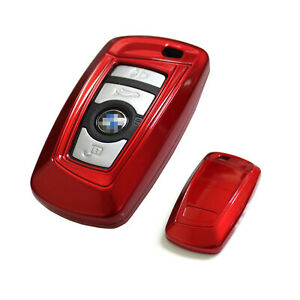 Exact Fit Glossy Red Smart Key Fob Shell For Bmw 1 3 4 5 6 7 X3 Series