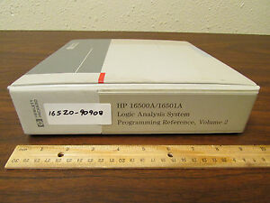 Hp 16500a 16501a Logic Analysis Programming Reference Vol 2 16520 90908