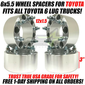 4 Wheel Spacers 6x5 5 3 Inches For All 6 Lug Toyota Trucks 75mm Forged