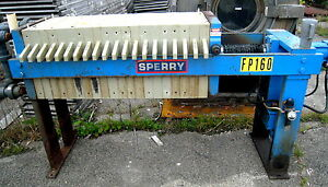 Sperry 470mm 18 3 Cu Ft 20 Plate Hcp3 Hydraulic Filter Press 100 Psi