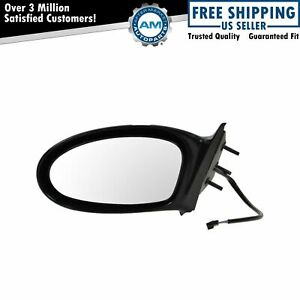 Power Black Fixed Side View Mirror Driver Side Left Hand Lh For 99 04 Olds Alero