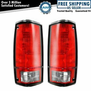 Taillights Taillamps Brake Lights Pair Set Rear For 82 93 Pickup Truck S10 S15
