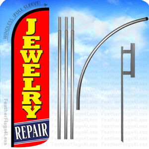 Jewelry Repair Windless Swooper Flag Kit Feather Banner15 Tall Sign Rq