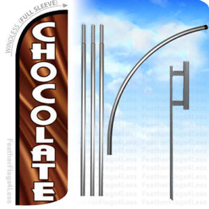 Chocolate Windless Swooper Flag 15 Kit Feather Banner Sign Q
