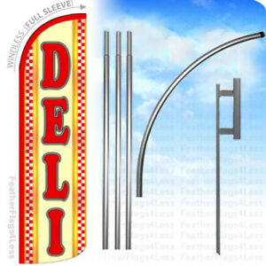 Deli Windless Swooper Flag 15 Kit Feather Banner Sign Yq