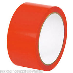 24 Rolls Red Floor Marking Pvc Safety Tape 2 X 36 Yards 7 Mil Thick