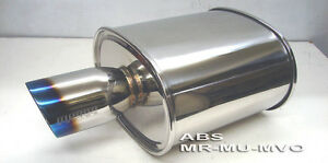 Megan Racing Universal Muffler Fits Rolled Titanium Tip 2 5 Id Mr Mu Mvo New