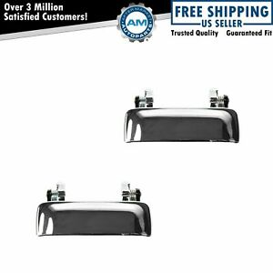 Door Handle Front Outer Chrome Pair Set For Ford Ranger Mazda Pickup New