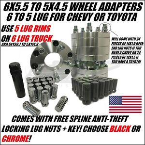 6x5 5 To 5x4 5 Wheel Adapters Spacer 6 To 5 Lug Also Known As 6x139 7 To 5x114 3
