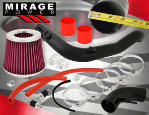 08 2012 Honda Accord V6 3 5l Ex Ex l 3 Cold Air Intake Black Pipe W Red Filter