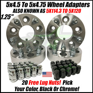5x4 5 To 5x4 75 Wheel Adapters Spacers 1 Inch Thick 5x114 3 To 5x120 1 2 20 4