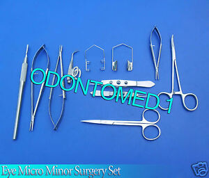 11 Pcs Basic Eye Micro Surgery Ophthalmic Scissors Surgical Instruments Kit