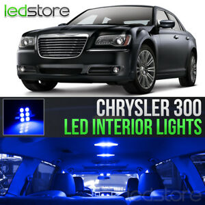 2011 2017 Chrysler 300 Blue Led Lights Interior Kit Package