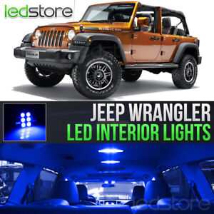 2007 2018 Jeep Wrangler Blue Led Lights Interior Kit Package Bulbs