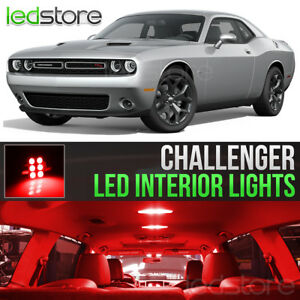 2015 2018 Dodge Challenger Red Interior Led Lights Kit Package