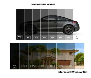Window Tint Film Roll Charcoal Bk 5 20 35 50 36 X 100ft Intersolar Sr