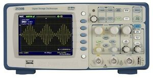 B k Precision 2530b Digital Storage Oscilloscope 2 Channels 25 Mhz 500 Msa s
