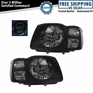 Headlights Headlamps Left Right Pair Set For 02 04 Nissan Xterra Xe