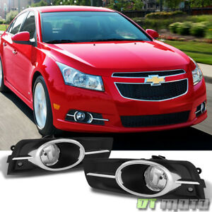 Chrome Trim 2011 2014 Chevy Cruze Bumper Fog Lights switch bulbs Left right