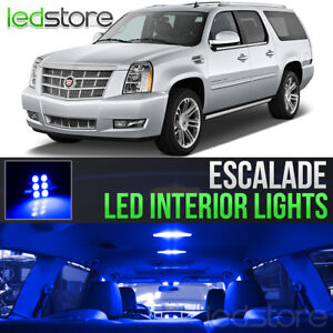 2007 2014 Cadillac Escalade Blue Interior Led Lights Kit Package