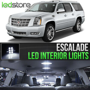 2007 2014 Cadillac Escalade White Interior Led Lights Kit Package