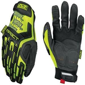 New Work Glove Mechanix Wear Smp 91 010 Safety Mpact Hi viz Yellow green Large