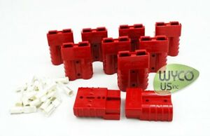 10 Anderson Connectors Sb50 600v 10 12 Gauge Small Red Genderless Style