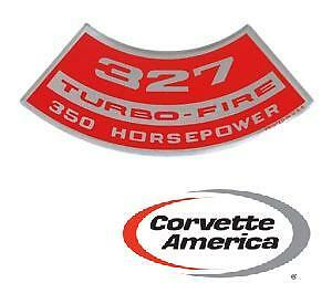 Chevrolet Corvette 327 Turbo Fire 350 Hp Air Cleaner Decal