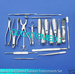 19 Pcs Basic Oral Dental Surgery Surgical Instruments Set Kit Dn 571