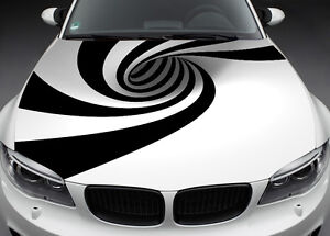 Abstract Full Color Graphics Wrap Decal Vinyl Sticker Fit Any Car Hood 016