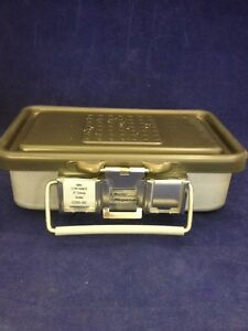 V Mueller Genesis Cd0 3c Mini Sterilization Container 10x6x3 Good Condition