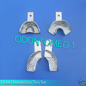 Dental Impression Tray Set 4 Pcs Dental Instruments