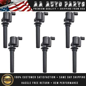 Pack 6 Ignition Coil For 2003 2004 2005 2006 2007 2008 Ford Escape 3 0l V6 Fd502