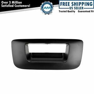 Tailgate Handle Bezel Smooth Black For Chevy Silverado Gmc Sierra Pickup