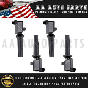 Set Of 4 Ignition Coil For Dg541 Dg507 Fd505 Ford Escape Focus Transit 2 0l 2 3l