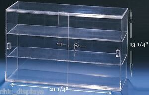 Sliding Door Acrylic Case Showcase Display Case Counter Top Display Cabinet Deal