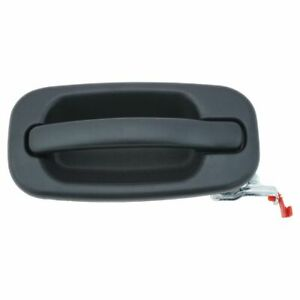 Door Handle Outside Exterior Black Rear Passenger Right For Chevy Gmc Cadillac