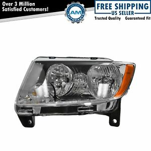 Halogen Headlight Lamp Left Hand Driver Side Lh For 11 13 Jeep Grand Cherokee