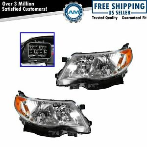 Headlamp Headlight Left Lh Right Rh Pair Set Of 2 For 09 13 Subaru Forester