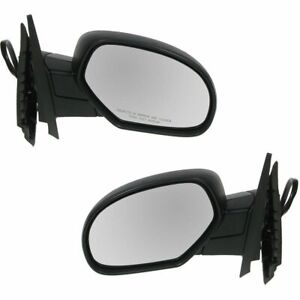 Side View Mirrors Power Heated Folding Memory Lh Rh Pair Set For Chevy Gmc