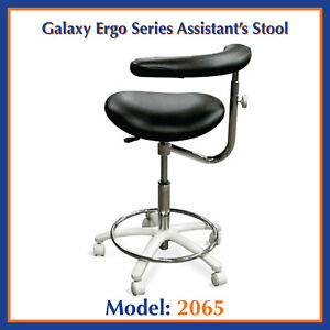Galaxy 2065 Contoured Dental Assistant s Hygienist Seat Stool Chair