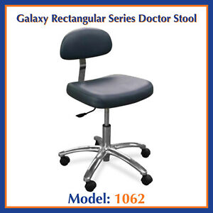 Galaxy 1062 Doctor s Contoured Rectangular Adjustable Dental Seat Stool Chair