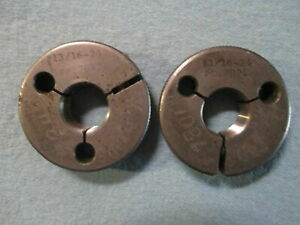 13 16 24 Thread Ring Gages Go No Go 8125 P d 7842 7801 Quality Control