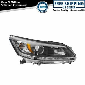Headlight Headlamp Halogen Passenger Rh Side For 13 14 Honda Accord Ex L V6