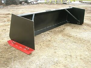 8 Ft Snow Pusher Skid Steer Attachment